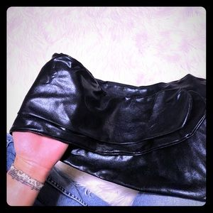 *Nwot* Faux Leather Thigh Highs